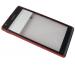 1273-1807 - Obudowa przednia z ekranem dotykowym Sony C5302, C5303, C5306 Xperia SP - czerwona (oryginalna)
