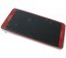 GH97-15209D - Obudowa przednia z ekranem dotykowym i wyświetlaczem LCD Samsung N9005 Galaxy Note III - czerwona (oryginalna)
